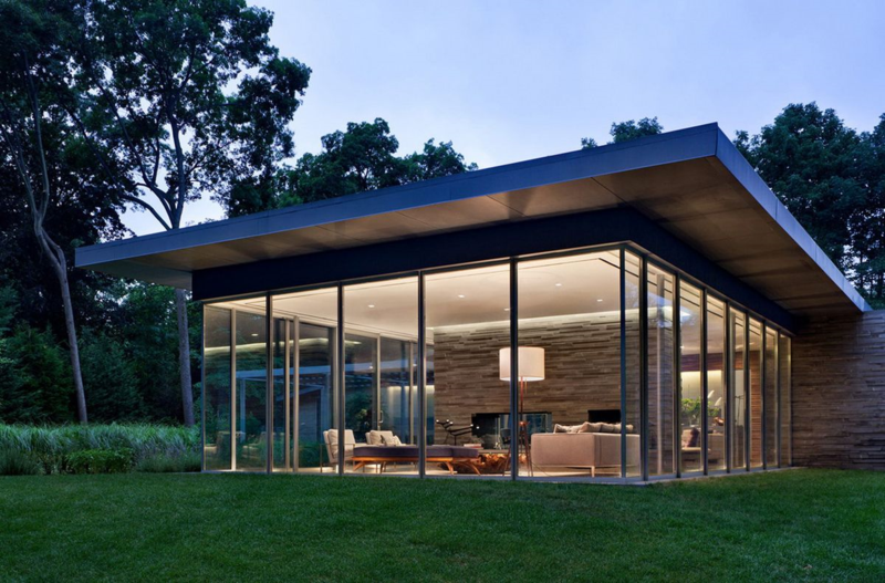Sands Point - Glass Pavilion in the Landscape